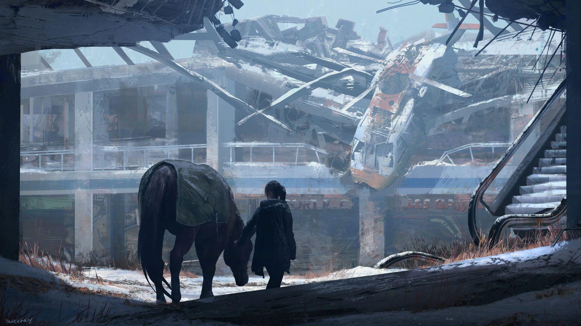 Verlassen und doch wunderschön. John Sweeney war Concept Artist von The Last of Us und Left Behind und hat wunderschöne Konzeptzeichnungen entworfen, die Naughty Dog akribisch in das Spiel übertragen hat