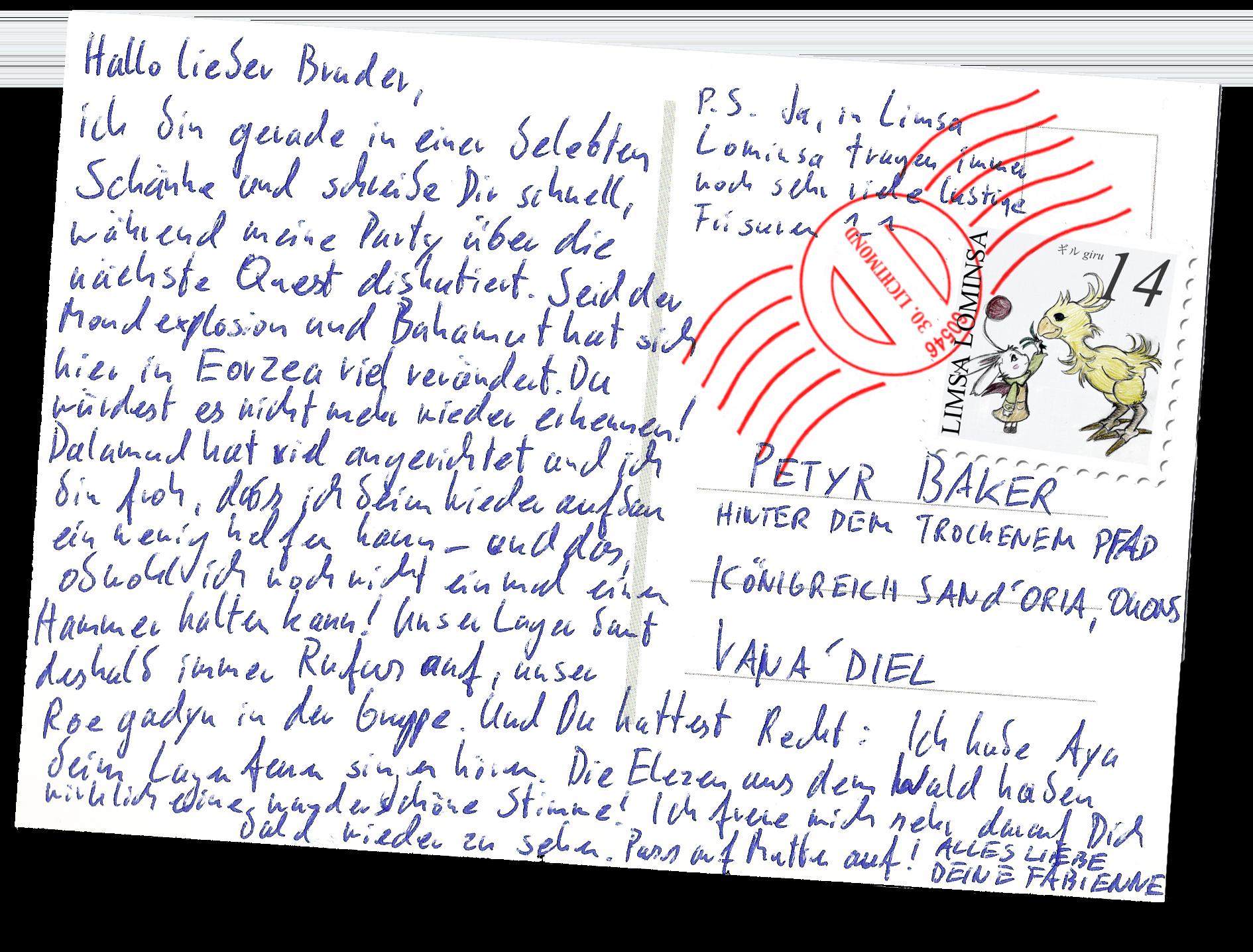 postkarte ff14 wasd für kolli